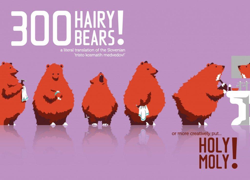 Bears 1024x738 – 300 Hairy Bears! Introducing the IDIOMASCOTS