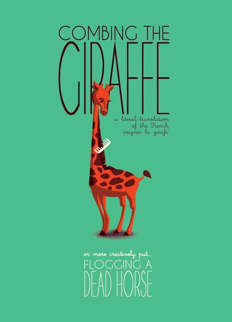 Giraffe 738x1024 – 300 Hairy Bears! Introducing the IDIOMASCOTS