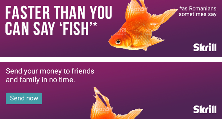 fish banner – Cultural consultation and adaptation for Skrill