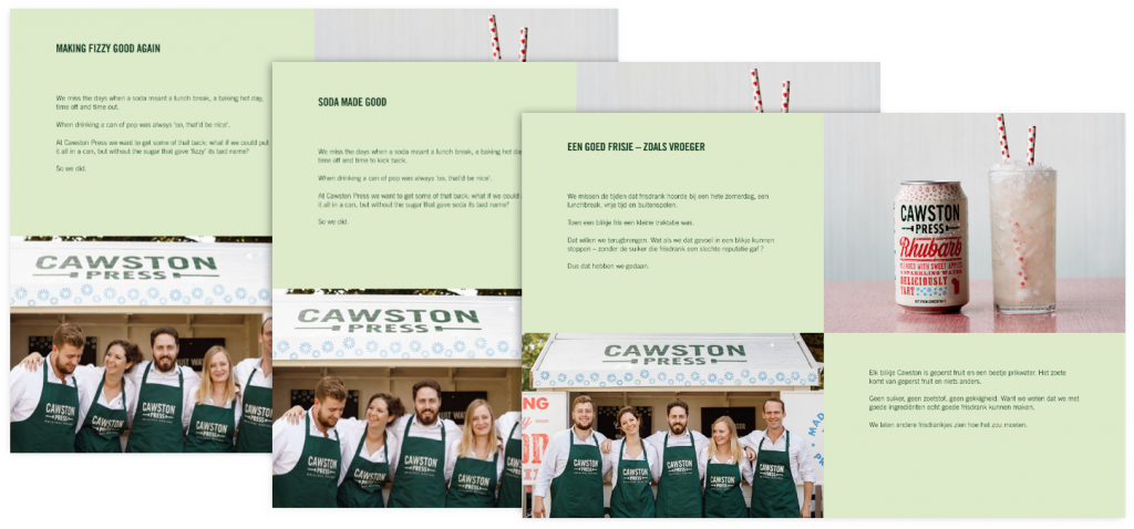 Cawston Press transcreation