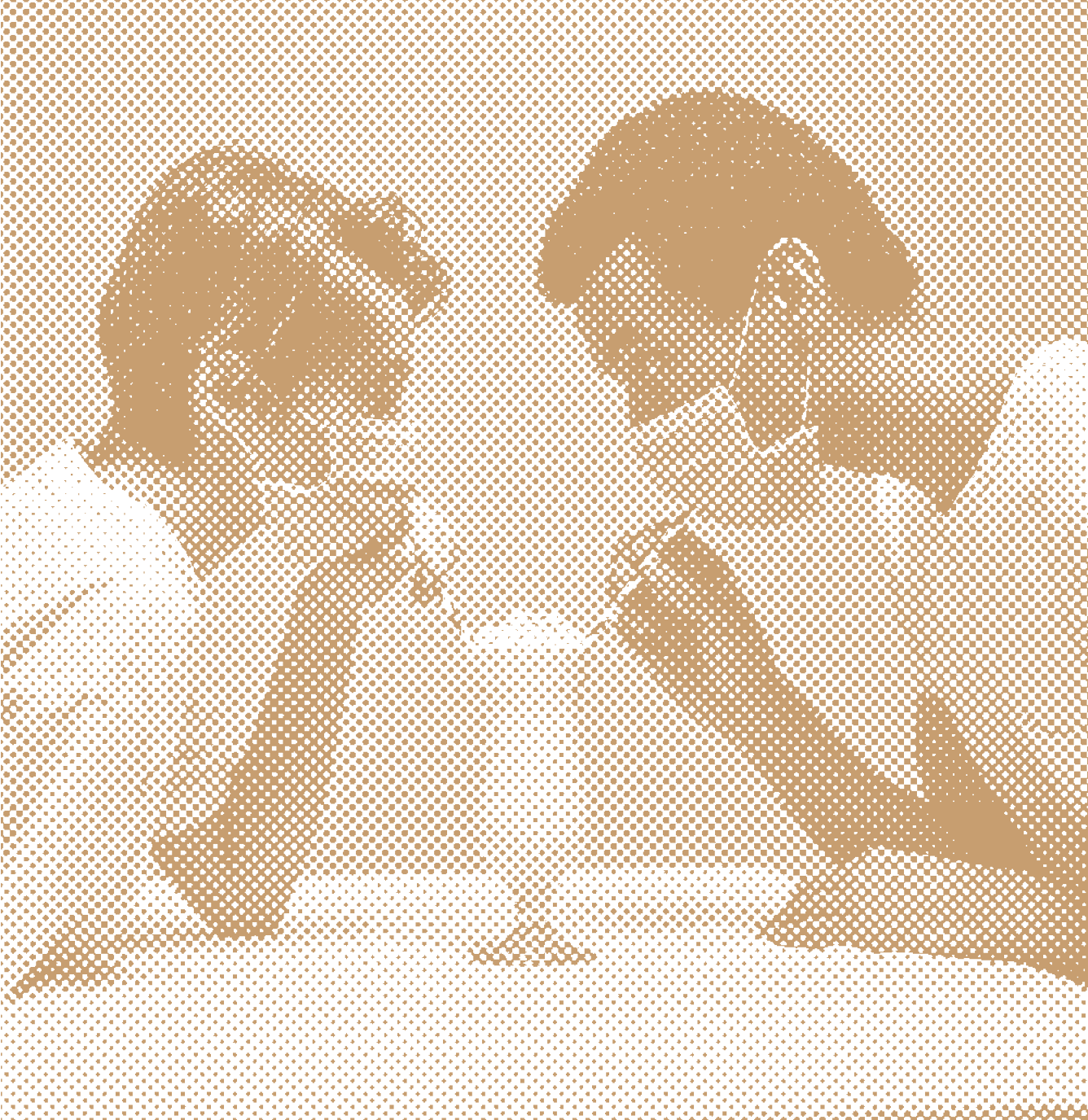 A couple wearing face masks share a milkshake